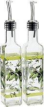 (Green) - CEDAR HOME Olive Oil Bottle Set Glass