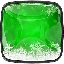Green Christmas Background 4 Packs Kitchen Cabinet