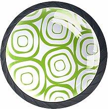 Green Circle Crystal Drawer Handles Furniture