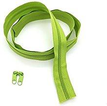 Green Continuous Zip & Sliders No. 3 Zippers