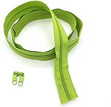 Green Continuous Zip & Sliders No. 5 Zippers