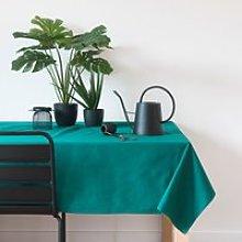 Green Cotton Tablecloth 140x240
