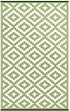 Green Decore Rug, Leaf Green/Ivory, 120 x 180 cm
