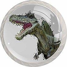 Green Dinosaur 4 Pieces Crystal Glass Wardrobe