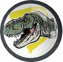 Green Dinosaur Cabinet Knobs 4 Pieces Drawer