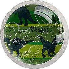 Green Dinosaur Rawr, Modern Minimalist Printing