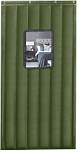 Green Draught Curtains Doors with Transparent