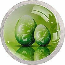 Green Easter Egg Background   4pcs Cabinet Knobs