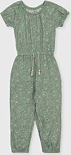 Green Floral Jumpsuit - 3-4 years