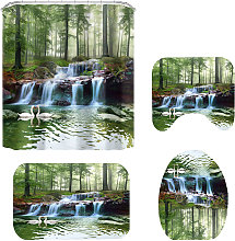 Green Forest Waterfall Scenery 3D Printing