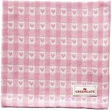 Green Gate - Pink Cotton Heart Petit Napkin - pink