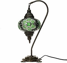 Green Handmade Turkish Lamp Moroccan Ottoman Style