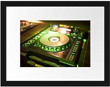 Green Illuminated DJ Desk Framed Poster East Urban