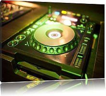 Green Illuminated DJ Desk Photographic Print on