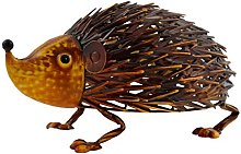 Green Jem Hedgehog Metal Garden Decoration,