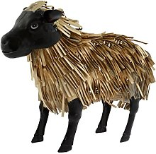Green Jem Sheep Metal Garden Decoration, Natural,