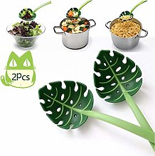 Green Leaf Colander Turtle Back Leaf Spoon Noodle