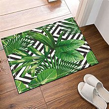 Green Leaf Decoration. Door Mat Front Door Carpet
