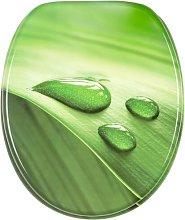 Green Leaf Elongated Toilet Seat Sanilo