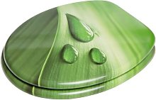 Green Leaf Soft Close Elongated Toilet Seat Sanilo