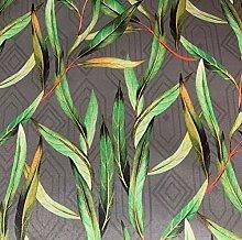 Green Leaves Italian Velvet Floral Botanical Art