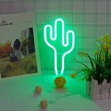 Green LED Cactus LED Neon Neon Light Battery