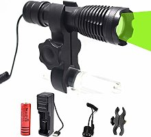 Green Light LED Torch Zoomable Coyote Hog Predator