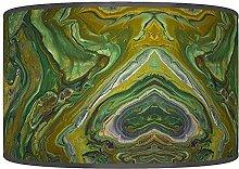 Green Marble Abstract Lampshade - Handmade Shade -