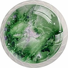 Green Marble Texture 4 Pieces Crystal Glass