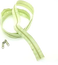 Green Pale Continuous Zip & Sliders No. 3 Zippers