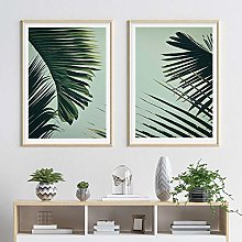 Green Palm Leaf Posters and Prints Leaves Canvas