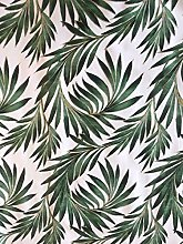 Green Palm Leaves Vinyl Tablecloth | Suitable For