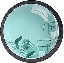 Green Pastel Chairs Green Drawer Pull Handle with