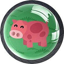 Green Pig Knobs for Dresser Drawers Decorative
