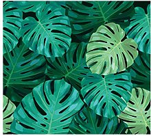 Green Plant Leaves Waterproof Polyester Material