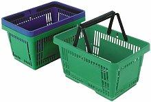 Green Plastic Shopping Basket Pk12 - SBY18593