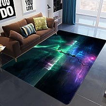 Green Purple Starry Sky Rug Soft Touch Fluffy
