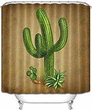 Green rainforest plant Bathroom Shower Curtain