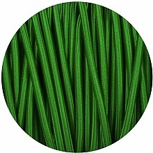 Green Round Fabric Flex 3 Core Braided Cloth Cable
