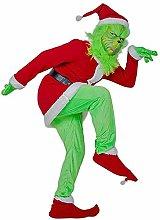 Green Santa Costume with Mask,Christmas Green