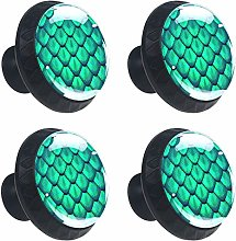 Green Scales Mermaid Cabinet Door Knobs Handles