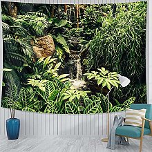 Green Shade Tree Tapestry Wall Hanging Sandy Beach