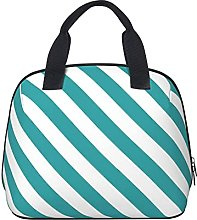 Green Stripe Chic Trend Colors Template Waterproof