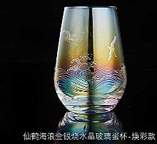 Green Tea Cup Crystal Glass Office Cup Large