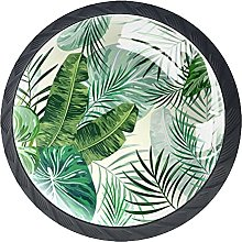 Green Tropical Leaves Background, Modern