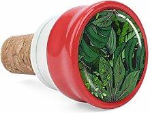 Green Tropical Leaves Seamless Wine Cork Wine