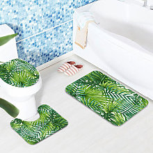 Green Tropical Plants Bathroom Shower Curtain and