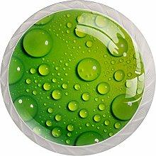 Green Waterdrop 4 Pieces Crystal Glass Wardrobe