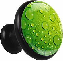 Green Waterdrop Cabinet knobs Black 4 knobs for