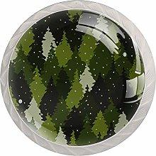 Green Woods White Crystal Drawer Handles Furniture